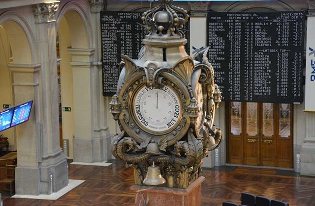 Reloj de la Bolsa de Madrid