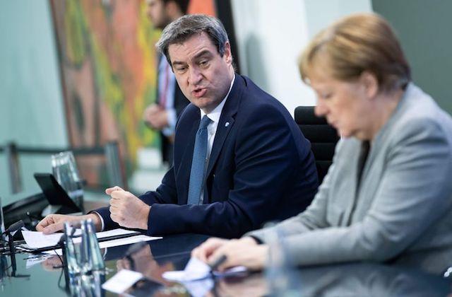 Merkel y Markus Söder