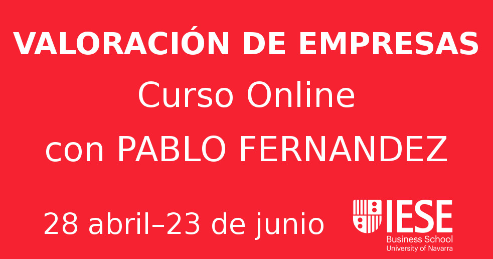 Curso Online Valoración de empresas con Pablo Fernandez