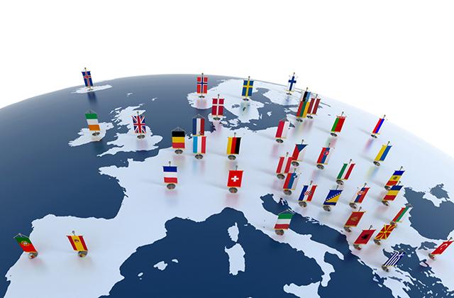 Europa mapa banderas