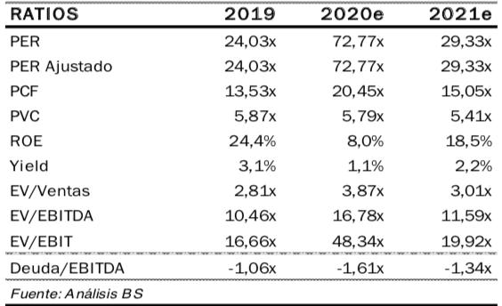 Inditex ratios