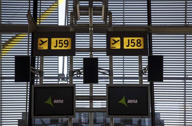Aena, paneles aeropuerto Madrid