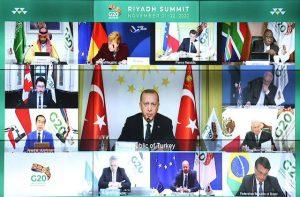 Reunión virtual del G-20 en 2020