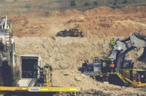 Trabajo de Thiess (ACS) en mina